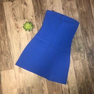 Susana Monaco Blue Strapless Minidress M